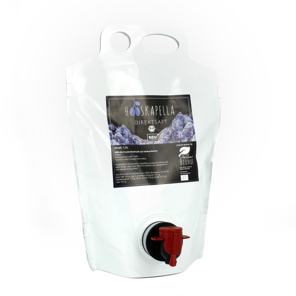 Haskapella Bio-Haskap Direktsaft - Vorratsbeutel 1,5l
