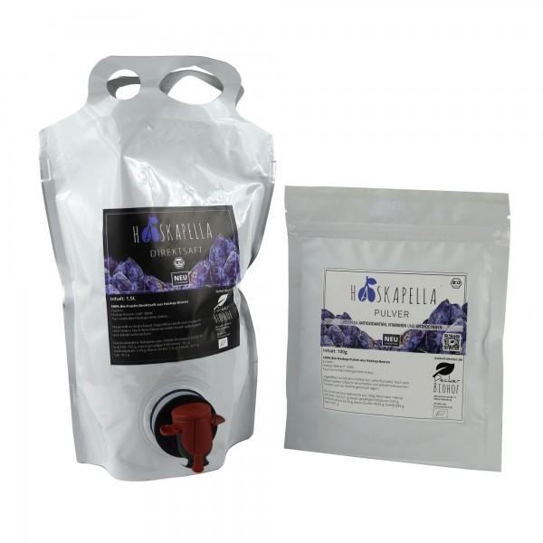 Haskapella Power-Paket aus der Haskap-Beere vom Biohof Decker